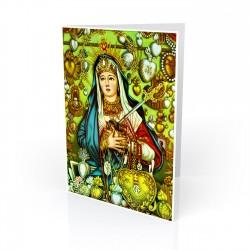 """Maria Dolorosa (Our Lady of Sorrows)"" Greeting Card, artwork-Mexico 20th century"