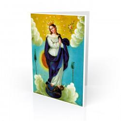 """La Inmaculada (Immaculate Conception)"" Greeting Card, artwork by Retablo"