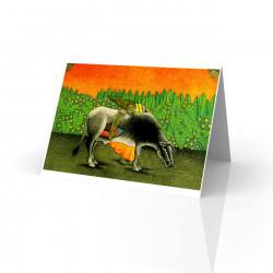 """El Toro Que se Comio al Sol (The Bull that Ate the Sun)"" Greeting Card, artwork by Fernando Olivera"