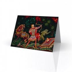 """Ivan Sarevich"" Greeting Card, with Russian Lacquer Box Artwork"