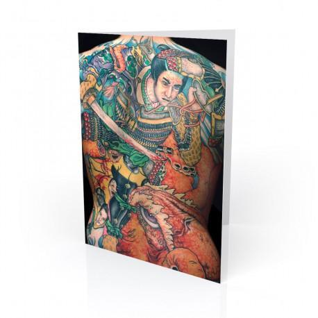 """""""Tracy"""" Greeting Card, Tattoo Artcard"""