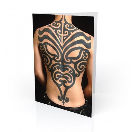 """""""Tribal Mask"""" Greeting Card, Tattoo Artcard"""