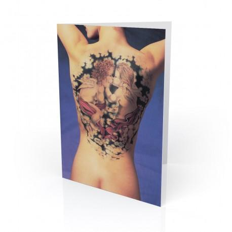 """Angel Baby"" Greeting Card, Tattoo Artcard"