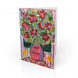"""Electric Floral's #2"" Greeting Card, artwork by Tony DiAngelis"