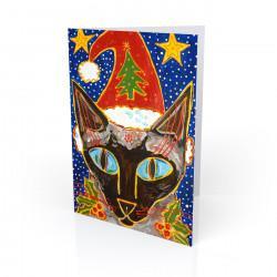 """Yule Tide Mollie"" Greeting Card, artwork by Tony DiAngelis"