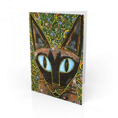 """Yesiam a Cat"" Greeting Card, artwork by Tony DiAngelis"