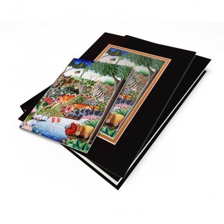 """Jungle Scene with Hippo"" Gift Set, artwork by Jerome Polycarpe"