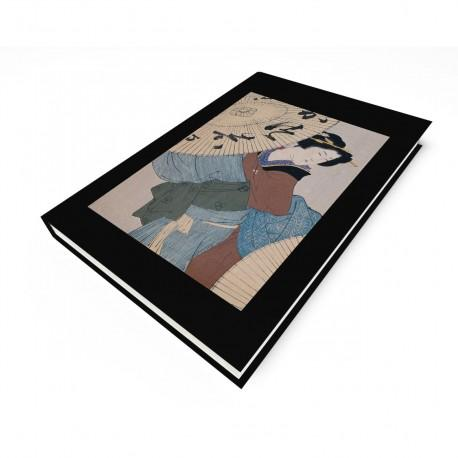 """""""Woman with Umbrella"""" Blank Journal"""