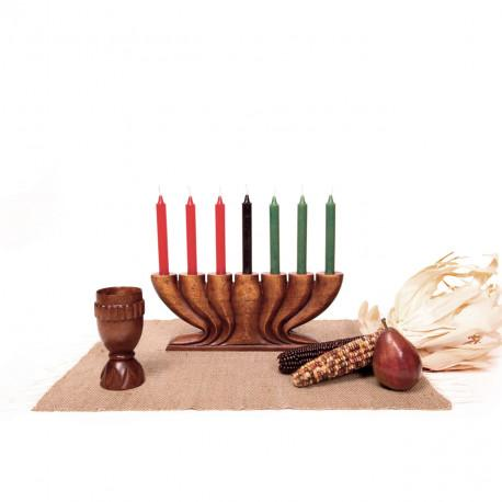 Kwanzaa Kit Style A, with Hand-Carved Unity Cup