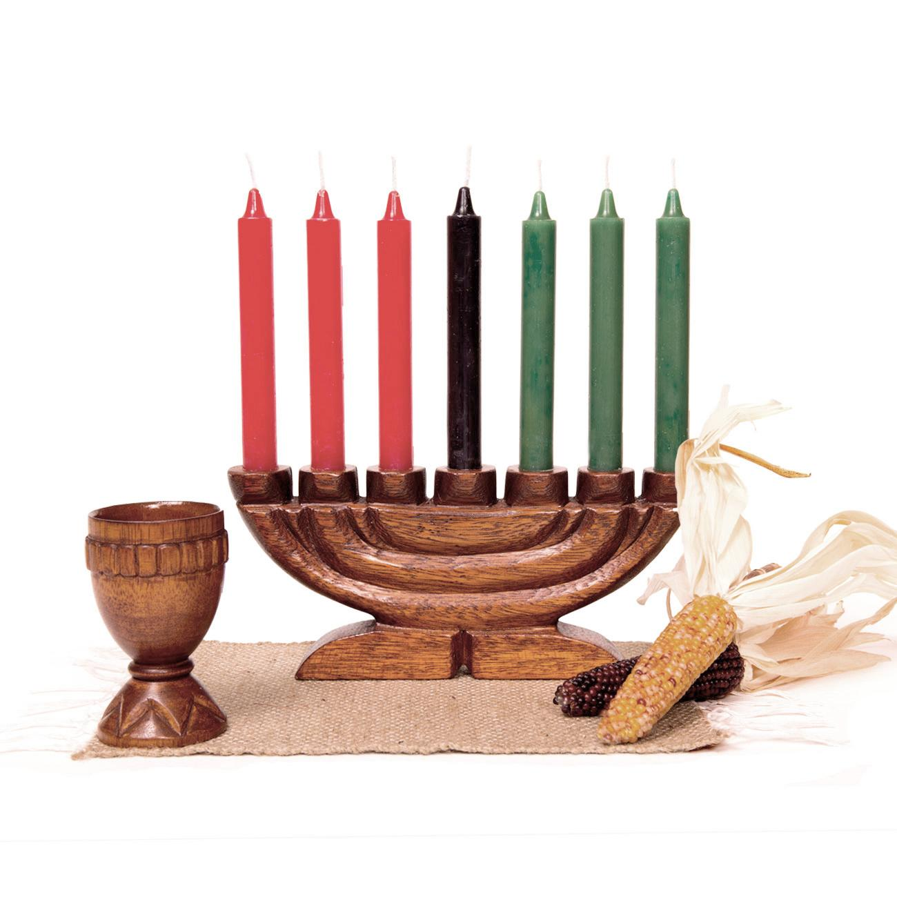 kwanzaa kit style b with hand carved unity cup