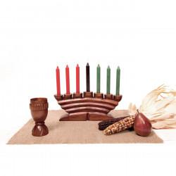 Kwanzaa Kit Style C, with Hand-Carved Unity Cup