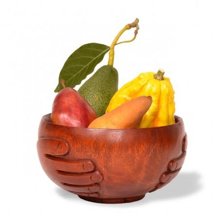 Hand Carved Harvest Bowl: