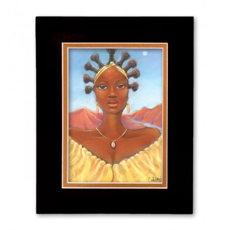 """Oshun"" Matted Print, art by Carlos Spivey"