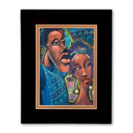 """Optimism"" Matted Print, art by Carlos Spivey"