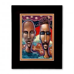 """Communication"" Matted Print, art by Carlos Spivey"