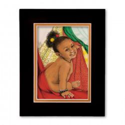 """Babay Love 2"" Matted Print, art by Carlotta Swain-Ward"