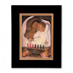 """Kwanzaa"" Matted Print, art by Carlotta Swain-Ward"