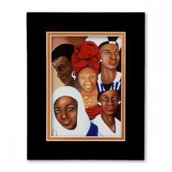 """Woman of Nations"" Matted Print, art by Carlotta Swain-Ward"