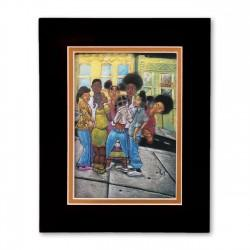 """""""Gossop"""" Matted Print, art by Carlos Spivey"""