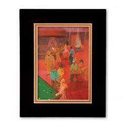 """""""The Burgundy Room"""" Matted Print, art by Carlos Spivey"""