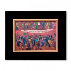 """""""Friday Night at The Burgandy Room"""" Matted Print, art by Carlos Spivey"""