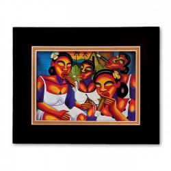 """Cool Friends"" Matted Print, art by Francisco Rosell Leon"