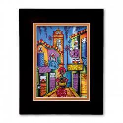 """La Bodeguita"" Matted Print, art by Cladys Castaneda"