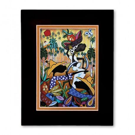 """""""The Harvest"""" Matted Print, art by Ronald Espinosa"""