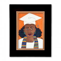 """Graduation Day"" Matted Print, art by Aileen Ishmael"