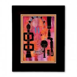 """Figures"" Matted Print, art by Charles Grant"