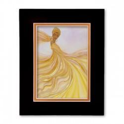 """""""Golden Dancer"""" Matted Print, art by Dexter Griffin"""