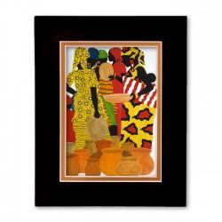 """Market Day"" Matted Print, art by Edwin Harris"