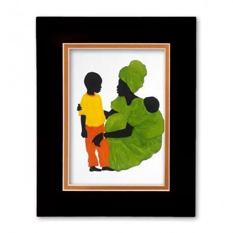 """Mama's Little Boy"" Matted Print, art by Edwin Harris"