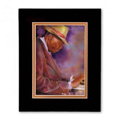 """He's Got Chops"" Matted Print, art by George Bernard III"