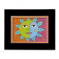 """""""Sunday Morning Sun"""" Matted Print, art by Gwendolyn Scheers"""