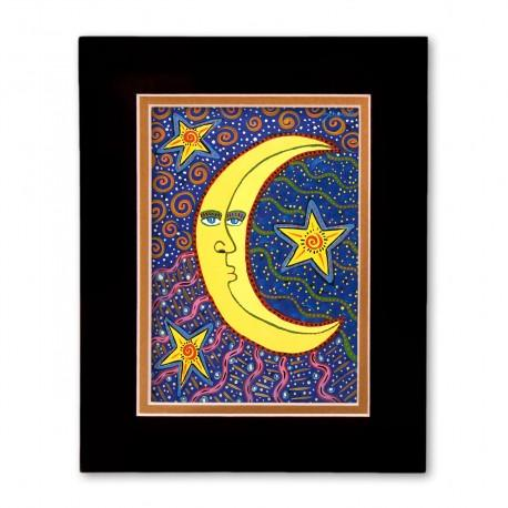 """""""The Moon & The Stars"""" Matted Print, art by Gwendolyn Scheers"""