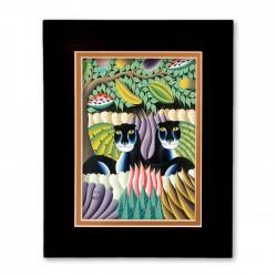 """Cats of the Jungle"" Matted Print, art by Roger Philemon"