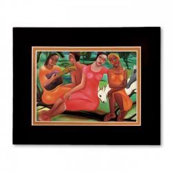 """Sisters"" Matted Print, art by Fritzner Alfonse"