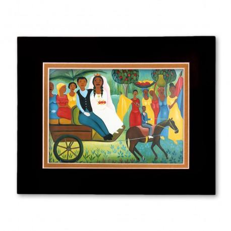 """Carriage Wedding"" Matted Print, art by Fritzner Alfonse"