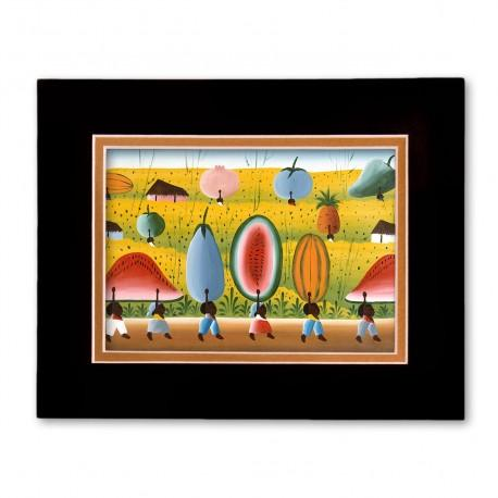 """""""Visions of Plenty"""" Matted Print, art by Fritzner Alfonse"""
