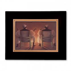 """Two Mambos"" Matted Print, art by François Cauvin"