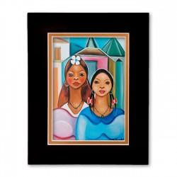 """The Sisters"" Matted Print, art by Fritzner Alfonse"