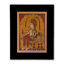 """Unknown"" Matted Print with  Indian Textile Artwork"