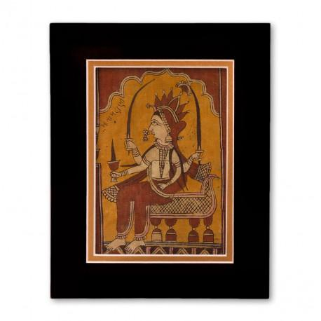 """""""Unknown"""" Matted Print with  Indian Textile Artwork"""