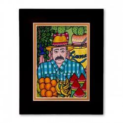 """The Market"" Matted Print, art by Hector Guerra"