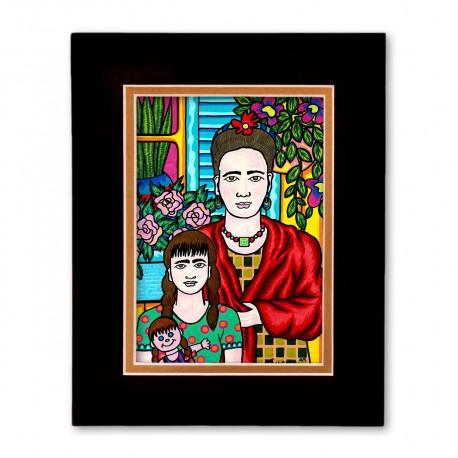 """Mother and Daughter"" Matted Print, art by Hector Guerra"