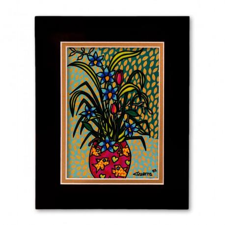 """Floral No. 1"" Matted Print, art by Hector Guerra"