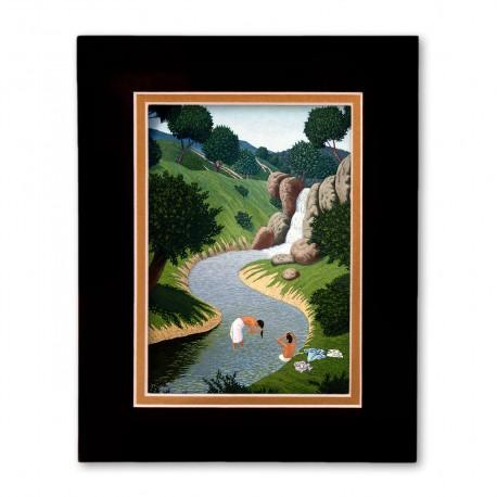 """""""The Bathers"""" Matted Print, art by Vico"""