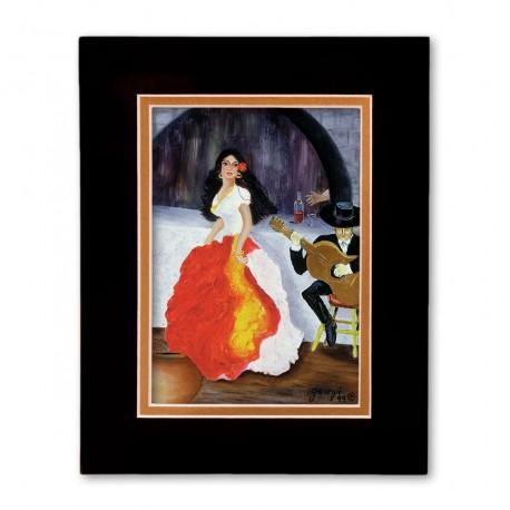 """Passion de Flamenco"" Matted Print, art by Georgi"