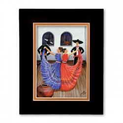 """Dia de Fiesta"" Matted Print, art by Georgi"